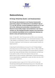 Medienmitteilung - SV Group