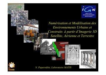 Numérisation et Modélisation des Environnements Urbains et ...