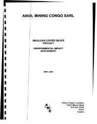 ANVIL MINING CONGO SARL 3 - Compliance Advisor Ombudsman