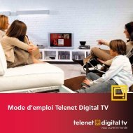 Mode d'emploi Telenet Digital TV - Be tv