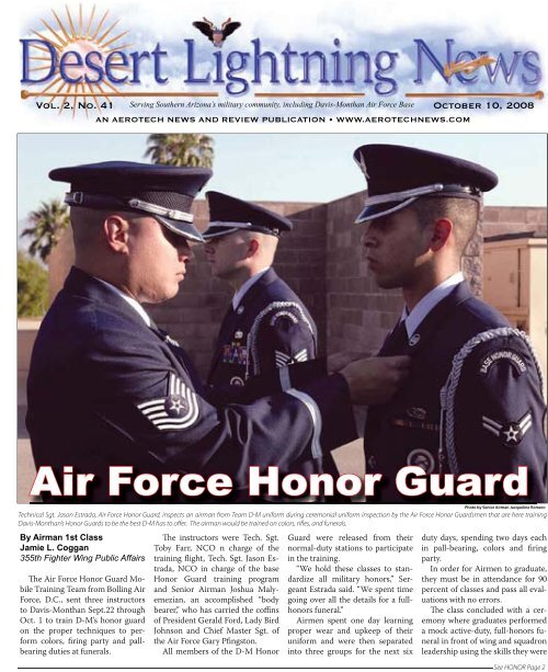 Air Force Honor Guard Aerotech News And Review