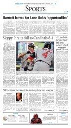 Sloppy Pirates fall to Cardinals 6-4 - Matchbin