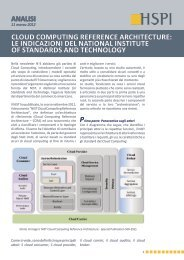 cloud computing reference architecture: le indicazioni ... - HSPI SpA