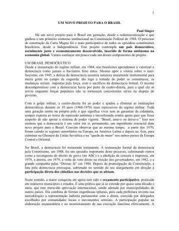 UM NOVO PROJETO PARA O BRASIL (Baixar arquivo) - Marca do ...