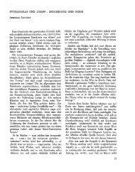 PYTHAGORAS UNO LYSIPP - Bretschneider Online