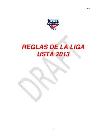 REGLAS DE LA LIGA USTA 2013 - USTA.com