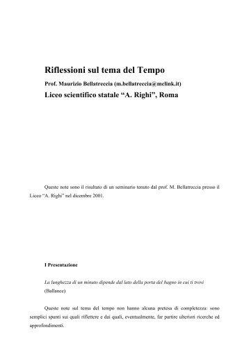 tempo bellatreccia - Pagina del prof M. Savarese