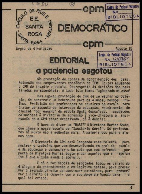 f SANTA | DEMOCRÁTICO a paciência esgotou