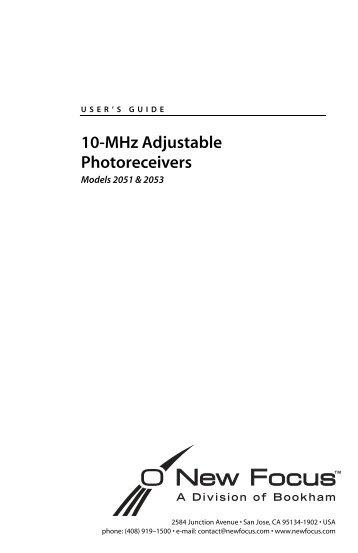 10-MHz Adjustable Photoreceivers