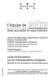L'équipe de soins - CHU Toulouse