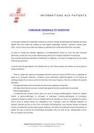 Informations générales (PDF) - Hôpital privé du Val d'Yerres