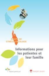Informations pour les patientes et leur famille - Hôpital général juif
