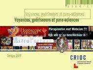 Voyances, guérisseurs et para-sciences - Crioc