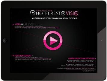 Notre plaquette à télécharger - RestoVisio.com