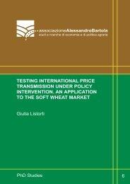 TESTING INTERNATIONAL PRICE TRANSMISSION UNDER ...