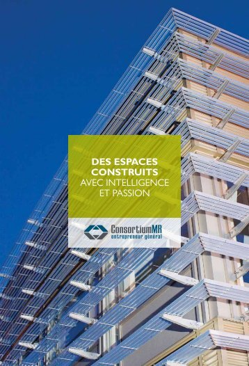 DES ESPACES CONSTRUITS AveC InteLLIgenCe ... - Consortium MR