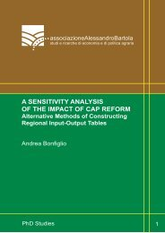a sensitivity analysis of the impact of cap reform - associazione ...