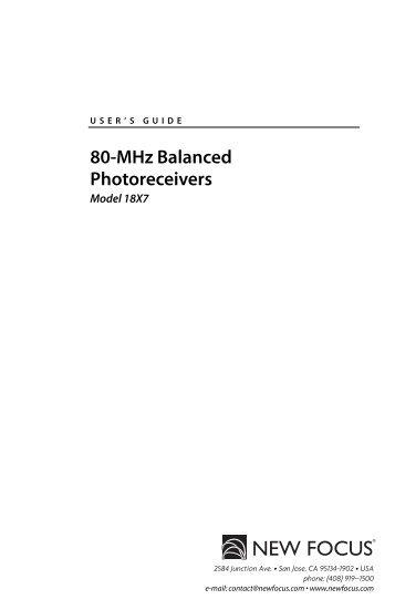 80-MHz Balanced Photoreceivers