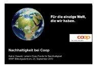 Nachhaltigkeit bei Coop - WWF Schweiz