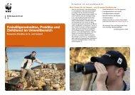 Freiwilligeneinsätze Praktika und Zivildienst im ... - WWF Schweiz
