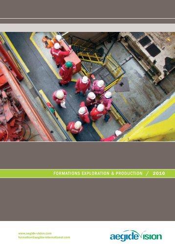 formations exploration & production / 2010 - Aegide International