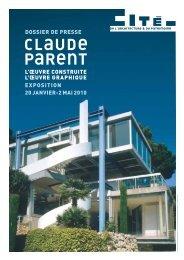 Dossier de presse Claude Parent, L'oeuvre construite, l'oeuvre ...