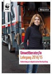 Lehrgang Umweltberater 14/15 Bildungszentrum ... - WWF Schweiz