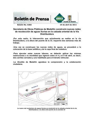 Secretaría de Obras Públicas de Medellín construirá nuevas redes ...