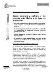 España construirá y explotará la alta velocidad entre Medina y La ...
