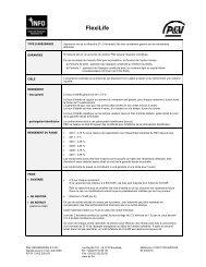Fiche Info Financière FlexiLife - P&V Assurances