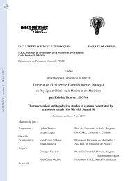 Etude thermochimique et topologique de systèmes constitués de ...