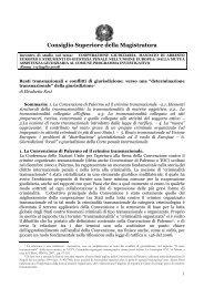 Capitolo II - Documento senza titolo - Consiglio Superiore della ...