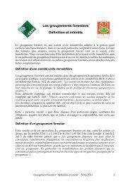 Les groupements forestiers - CRPF Limousin