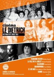 le programme en pdf - Cinema Le Dietrich