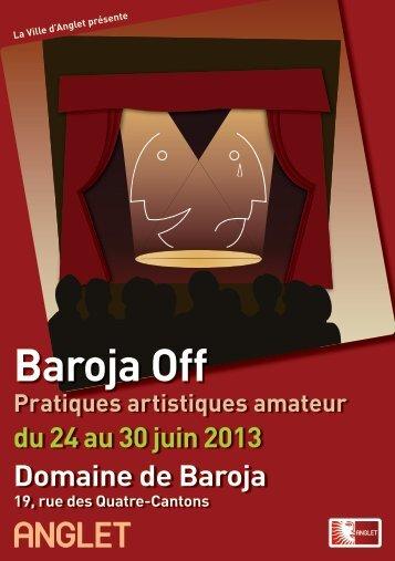 Baroja Off - programme - Anglet