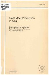 Goat Meat Production in Asia - International Development Research ...