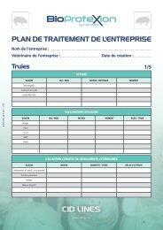 Plan de traitement de l'entreprise - cid lines