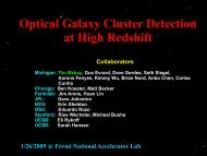 Optical Galaxy Cluster Detection at High Redshift Jiangang Hao