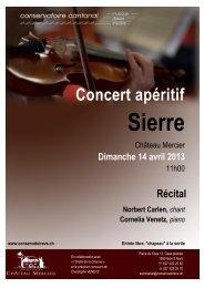 Programme du concert (pdf - 900.49 Ko) - Conservatoire cantonal ...