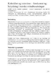 forekomst og betydning av i norske svinebesetninger - UMB
