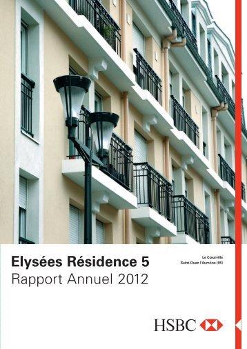 Elysées Résidence 5 Rapport Annuel 2012 - HSBC REIM