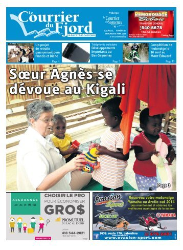 Le 3 avril 2013 - Courrier du Saguenay