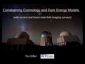 Constraining Cosmology and Dark Energy Models
