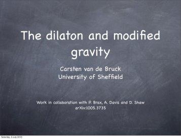 Carsten van de Bruck University of Sheffield