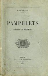 Pamphlets anciens et nouveau