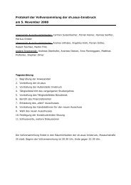 Protokoll der Vollversammlung der sh.asus-Innsbruck am 5 ...