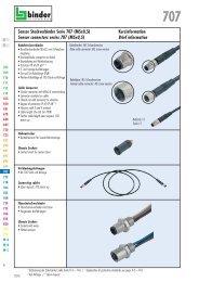 Sensor Steckverbinder Serie 707 (M5x0,5) Sensor connectors ...