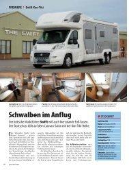 Schwalben im Anflug - SWIFT Reisemobile + Caravans