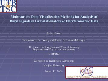 Multivariate Data Visualization Methods for Analysis of Burst Signals ...