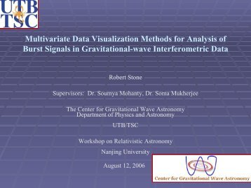Multivariate Data Visualization Methods for Analysis of Burst Signals ...